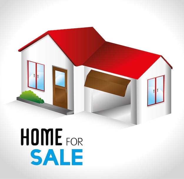 Immobilier sur illustration vectorielle fond blanc