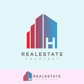 Immobilier initial lettre h logo design