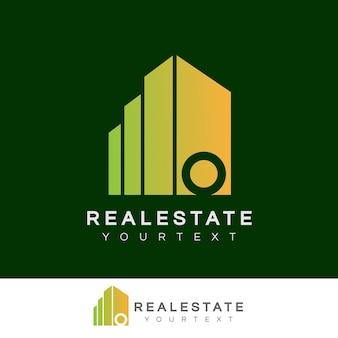 Immobilier initiale lettre o logo design