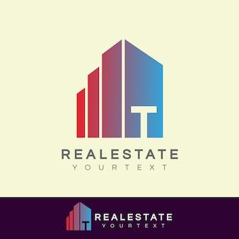 Immobilier initiale lettre t logo design