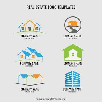 Immobilier logos modèle