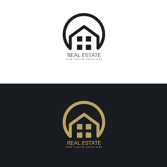 Immobilier modèle de conception de logo