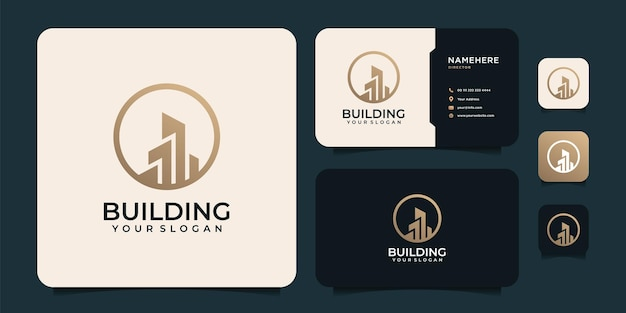 Immobilier moderne bâtiment logotype vecteur société appartement propriété