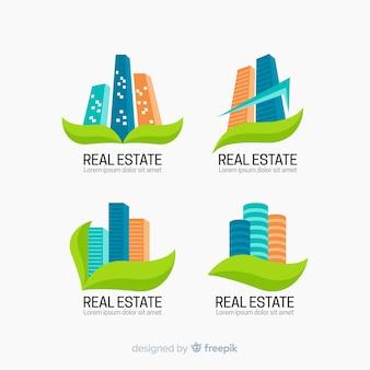 Immobilier moderne logo collectio