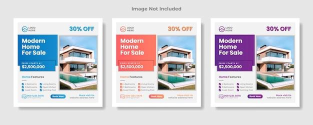 Immobilier social media post amp bannière web