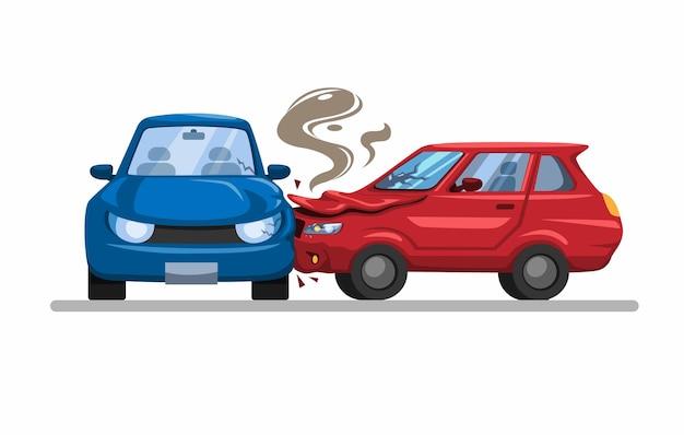 Impact latéral d'accident d'accident de voiture