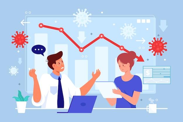 Impact négatif sur l'économie et récession