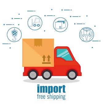 Importer la livraison gratuite définir des icônes
