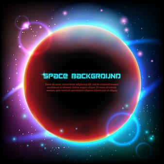 Impression d'affiche sur fond noir de l'espace cosmos