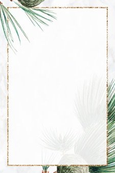 Impression d'art vectoriel de cadre de sapin de noël, remix d'œuvres d'art de megata morikaga
