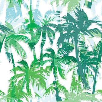 Impression d'été tropical avec palmier.