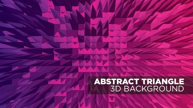 Impression de fond 3d triangle abstrait