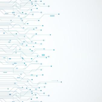 Impression de fond abstrait bleu technologie circuit imprimé