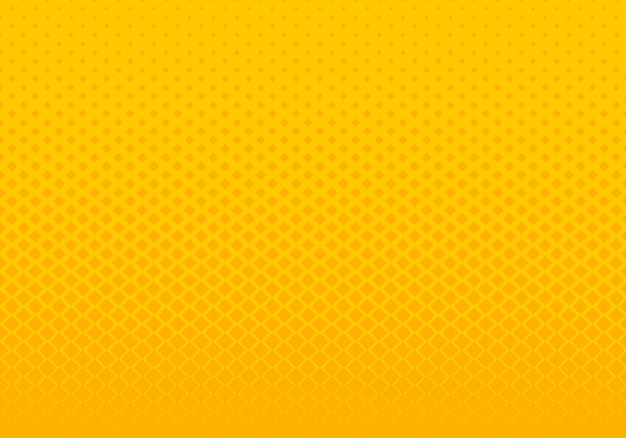Impression de fond abstrait carrés jaunes dégradés