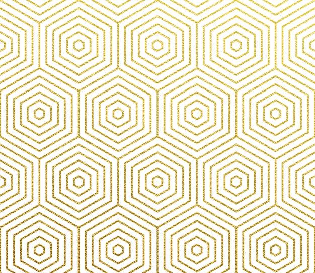 Impression de fond abstrait géométrique or