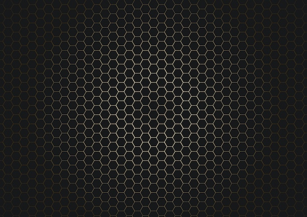 Impression de fond abstrait hexagone noir