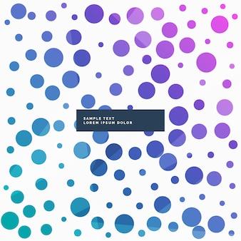 Impression de fond abstrait points colorés