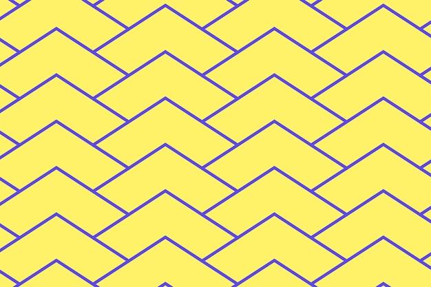 Impression de fond abstrait, vecteur de conception créative zigzag jaune