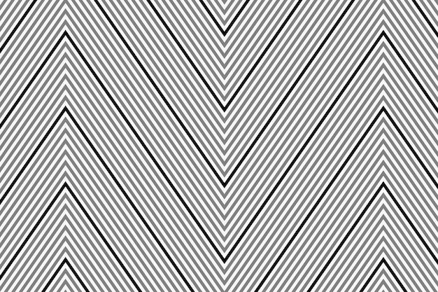 Impression de fond abstrait, vecteur de conception simple chevron noir