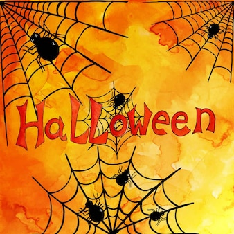 Impression de fond aquarelle halloween
