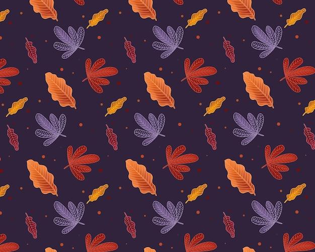 Impression de fond automne avec la conception des feuilles
