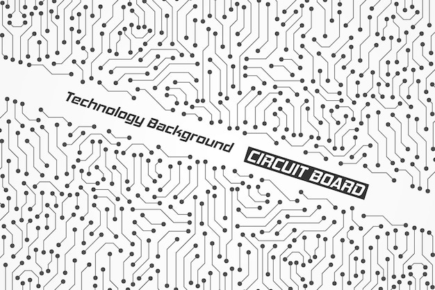 Impression de fond de carte de circuit imprimé de technologie abstraite