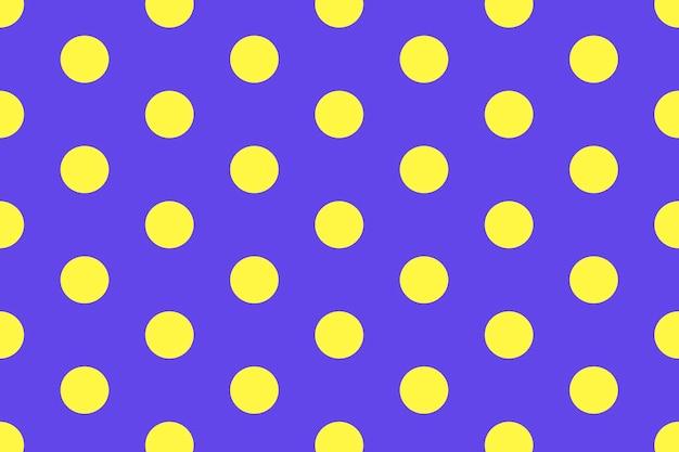 Impression de fond coloré, mignon à pois en vecteur violet