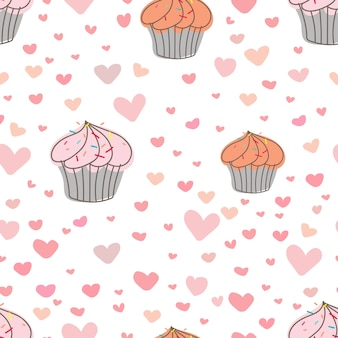 Impression de fond cupcakes.