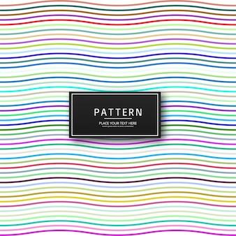 Impression de fond élégant lignes colorées