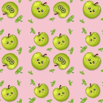 Impression de fond émoticône pomme créative