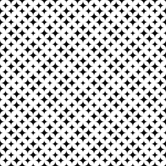 Impression de fond étoile abstraite sans soudure géométrique monochrome