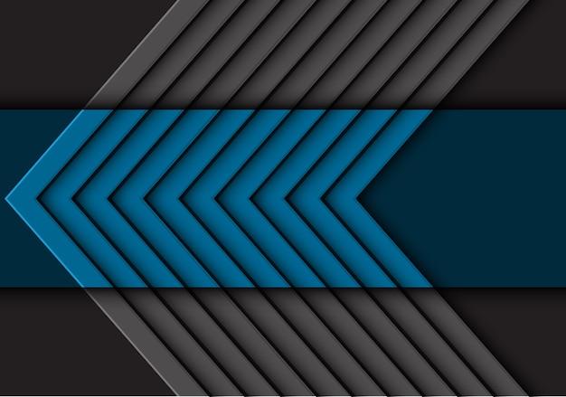 Impression de fond de flèche gris bleu abstrait