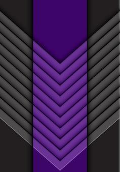 Impression de fond de flèche gris violet abstrait