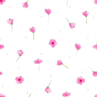 Impression de fond floral aquarelle transparente