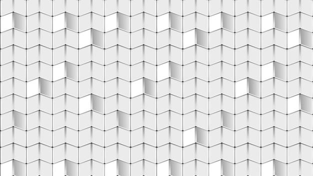 Impression de fond de formes abstraites blanches