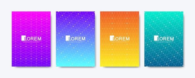 Impression de fond géométrique abstrait avec texture de lignes