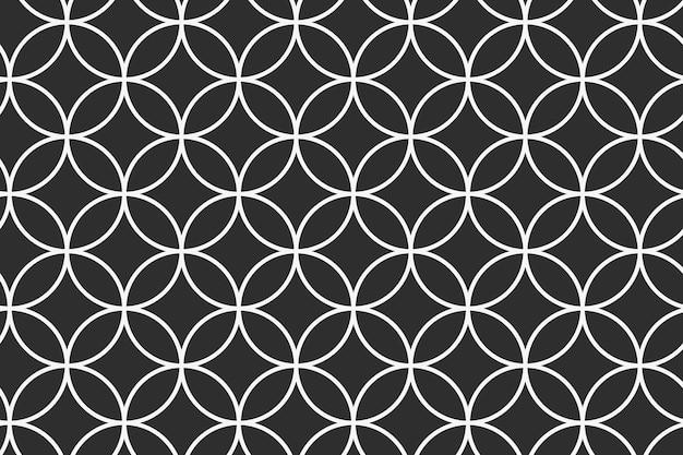 Impression de fond géométrique, vecteur de dessin abstrait noir