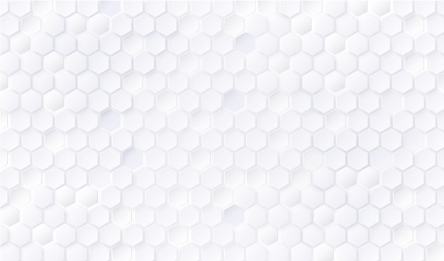 Impression de fond hexagone blanc