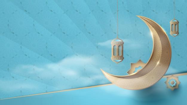 Impression de fond islamique de luxe abstrait