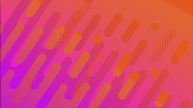 Impression de fond de ligne géométrique abstraite pour la conception de la couverture de la brochure d'entreprise jaune rouge orange ultr...