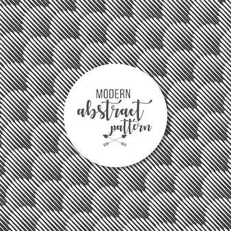 Impression de fond des lignes noires et blanches sans couture