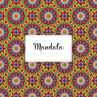 Impression de fond de luxe mandala ornemental