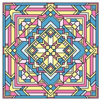 Impression de fond de mandala graphique pour l'impression de tissu textile