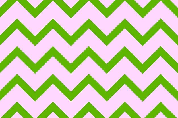 Impression de fond mignon, vecteur de conception créative zigzag vert