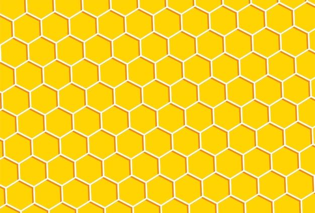 Impression de fond en nid d'abeille.