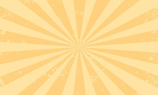Impression de fond orange sunburst