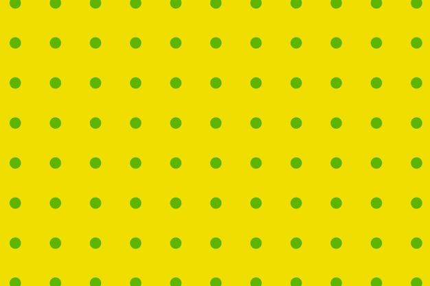 Impression de fond à pois, vecteur de conception colorée jaune