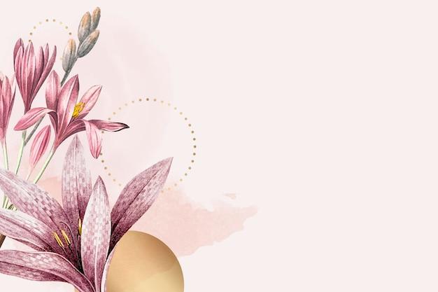 Impression de fond rose amaryllis