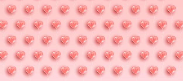 Impression de fond de la saint-valentin avec des coeurs.