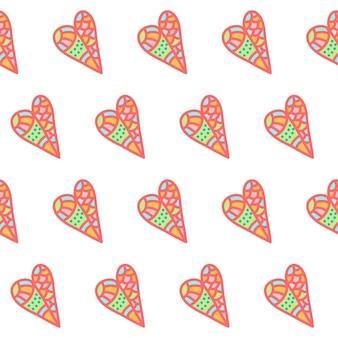 Impression de fond de la saint-valentin. illustration romantique abstraite doodle pour la conception de carte de saint-valentin, invitation, flyer de fête, t-shirt, album, etc.